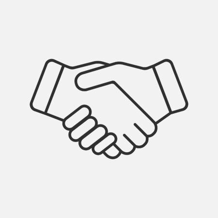 Handshake icon isolated on white background. Vector illustration