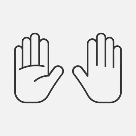 hand icon isolated on background. Vector illustration. Eps 10.