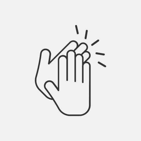 Icono de aplauso aislado sobre fondo blanco. Ilustración de vector. Eps 10.