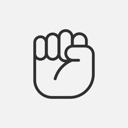 Protest hand icon isolated on white background. Vector illustration.