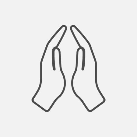 Prayer hands icon isolated on white background. Vector illustration.