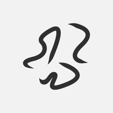 Worms intestinal parasites icon isolated on white background.