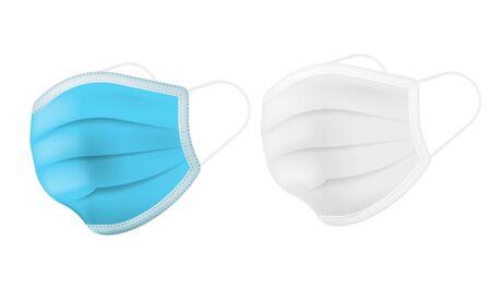 medical mask isolated on white background.