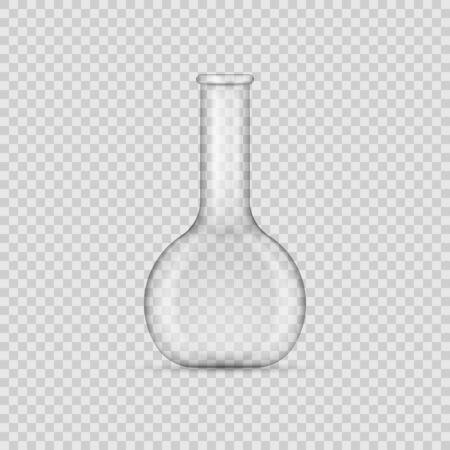 Chemical Laboratory Glassware Or Beaker isolated on transparent background. Vector illustration. Eps 10.