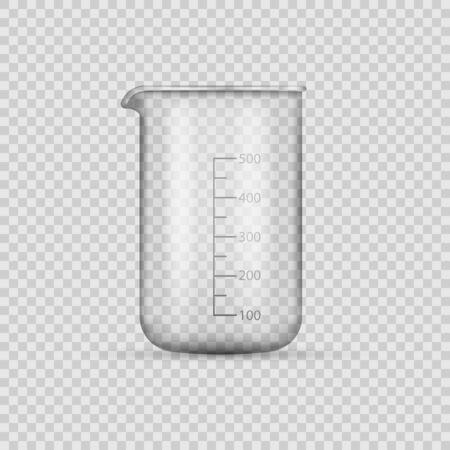 laboratory glassware or beaker isolated on transparent background. Vector illustration. Eps 10. Ilustração