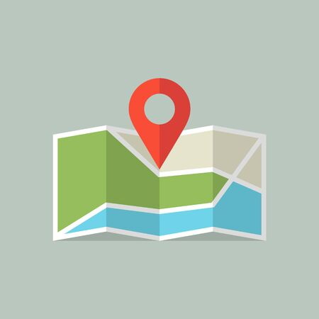 Location icon. Map icon with Pin Pointer. Imagens - 146259216