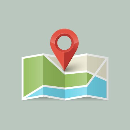 Location icon. Map icon with Pin Pointer.