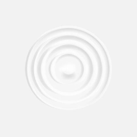 Milk circle ripple isolated on white background.