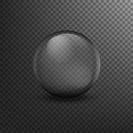 Translucent sphere with shadow on transparent background. Vector illustration. Eps 10. Imagens - 146068469