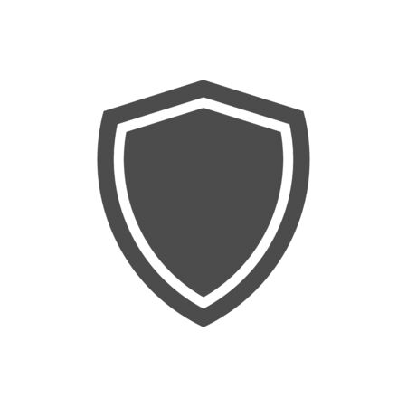 Shield Protection Icon isolated on white background.