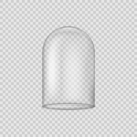Glass dome isolated on transparent background. Vector illustration. Eps 10.