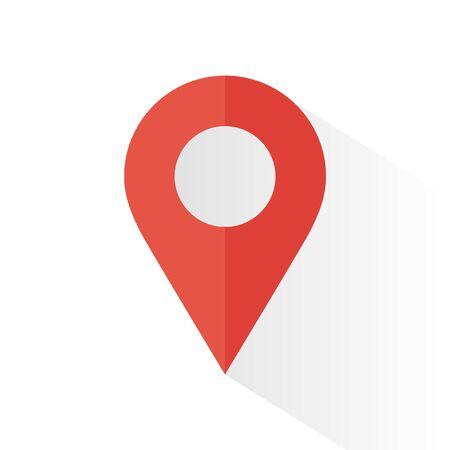 location icon isolated on white background. Vector illustration. Eps 10. Ilustração