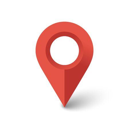 location icon isolated on white background. Vector illustration. Eps 10. Imagens - 146105487