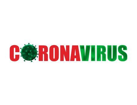 Corona Virus 2020 isolated on white background. Vector illustration. Eps 10. Ilustração