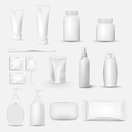 Hygiene, Cleaning set isolated on white background. Vector illustration. Eps 10.