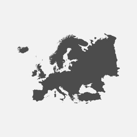 Europe map isolated on white background. Ilustração