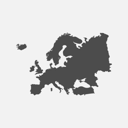Europe map isolated on white background. Imagens - 148316757