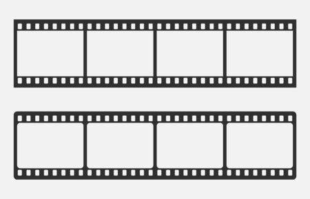 Blank cinema film strip isolated on white background. Vector illustration. Eps 10.