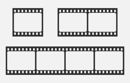 Blank cinema film strip isolated on white background. Vector illustration. Eps 10. Imagens - 148097222