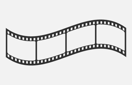 Blank cinema film strip isolated on white background. Vector illustration. Eps 10. Imagens - 148097050