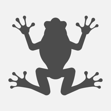Frog icon isolated on white background.