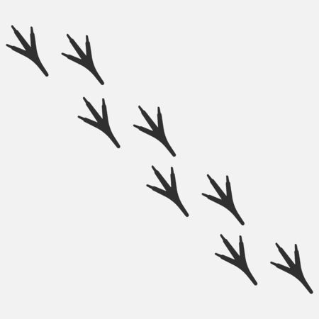 Chicken paw icon isolated on white background. Vector illustration. Eps 10. Illusztráció