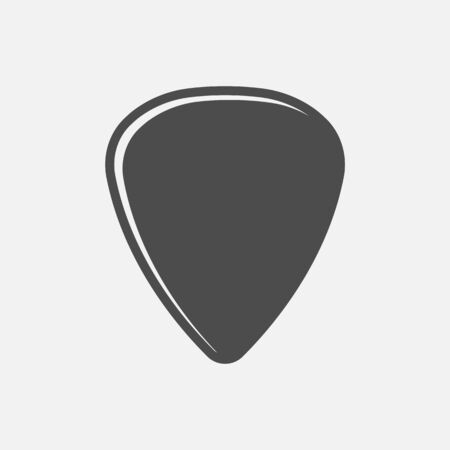 Guitar pick icon isolated on white background. Vector illustration. Eps 10. Imagens - 148097369