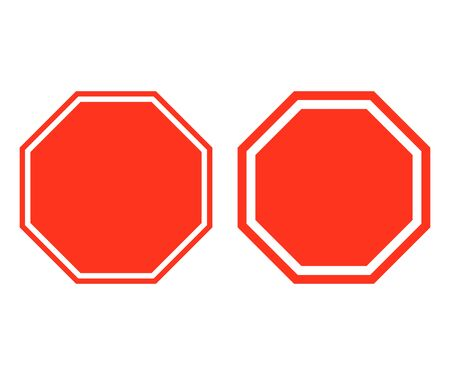 Stop sign. Stop icon isolated on white background. Vector illustration. Eps 10. Ilustração