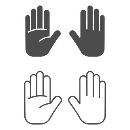 Hand icon isolated on white background. Vector illustration. Eps 10. Ilustração