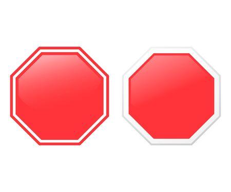 Stop sign isolated on white background. Vector illustration. Eps 10. Ilustração