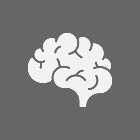 Brain icon isolated on white background. Vector illustration. Eps 10. Imagens - 150515976