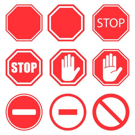 Stop sign. Stop icon isolated on white background. Vector illustration. Eps 10. Imagens - 150458068