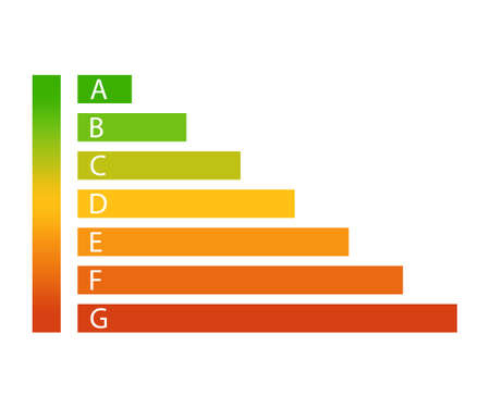 Energy efficiency rating icon.