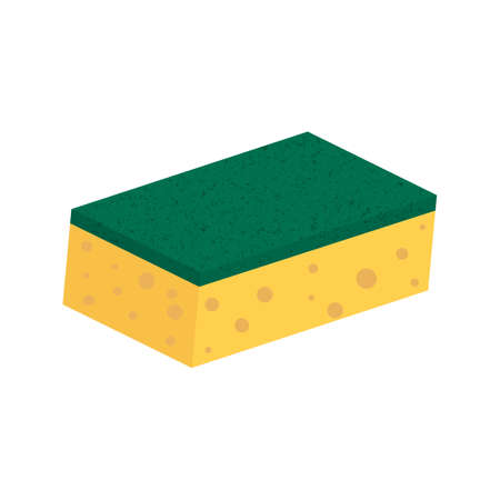 Scouring pads sponge for housework cleaning. Vecteurs