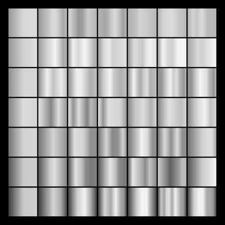 Set of gray gradients. Collection of gray backgrounds.