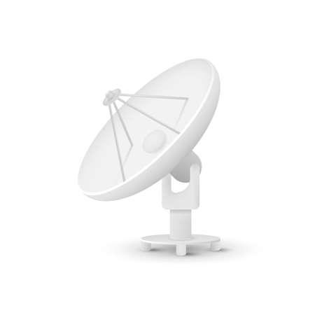 Satellite dishes antenna isolated on white background.
