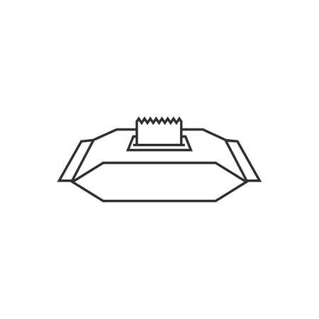 Wet wipes icon isolated on white background. Vector illustration. Eps 10. Ilustração