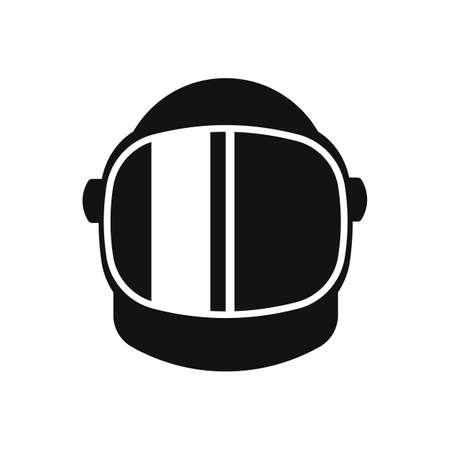 Astronaut helmet equipment icon isolated on white background. Vector illustration. Eps 10.