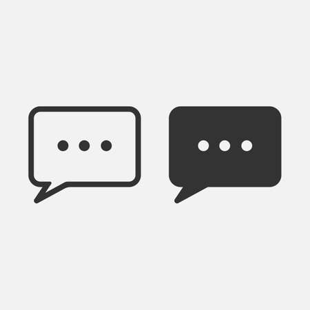 speech bubble message icon isolated on white background. Vector illustration. Eps 10.