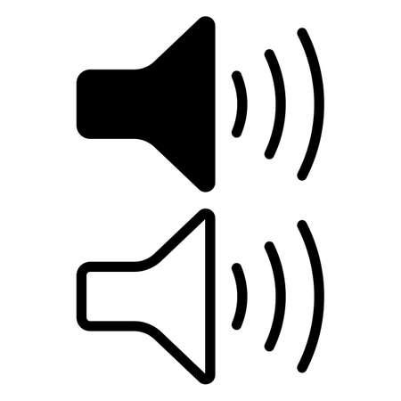 Speaker vector icon isolated on white background. Vector illustration. Eps 10.