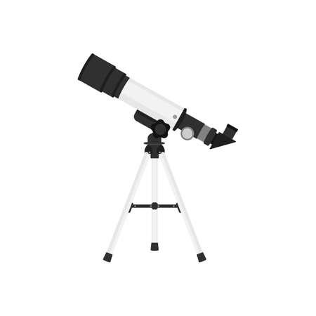 Telescope isolated on white background. Vector illustration. Eps 10.