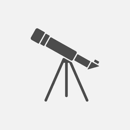 Telescope icon isolated on white background. Vector illustration. Eps 10. Ilustração