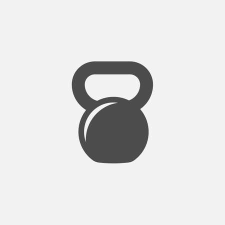 Kettlebell icon isolated on white background. Vector illustration.