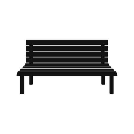 Park wooden bench isolated on white background. Vector illustration. Eps 10. Ilustração