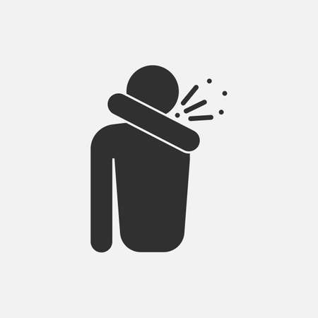 sneeze iconicon isolated on white background. Vector illustration. Eps 10.  イラスト・ベクター素材