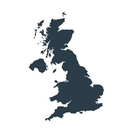 Map of United Kingdom isolated on white background. Vector illustration. Eps 10.
