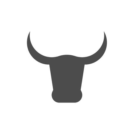 Bull Head icon. Bull sign isolated on white background. Vector illustration.