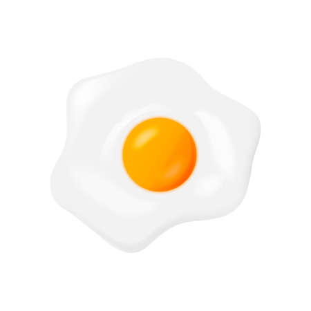Fried egg isolated on white background. Vector illustration. Imagens - 161096766