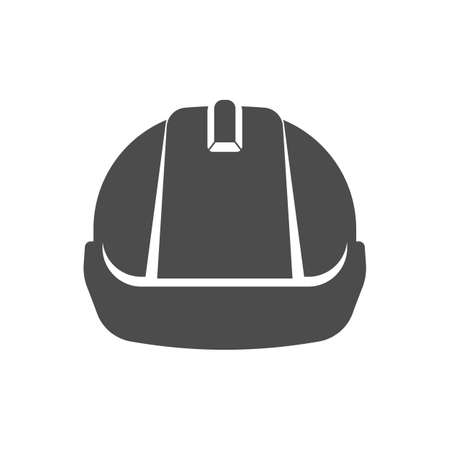 Safety construction helmet icon. Front view construction helmet sign Vector illustration. Ilustração