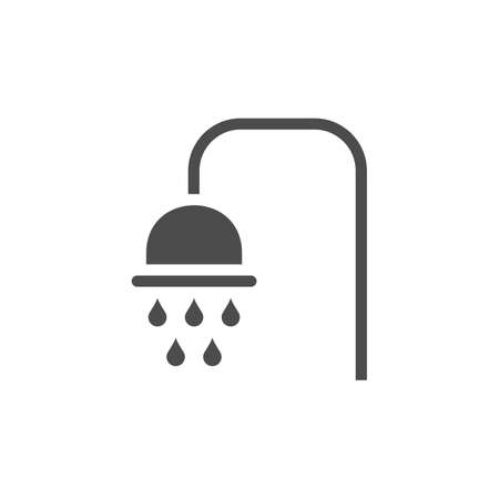 Shower icon isolated on white background.